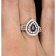 Sapphire Ring with a Diamond Halo 0.78ct in 18K White Gold N4524 - image 4