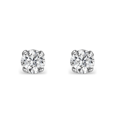 Diamond Earrings 0.10CT Studs Diamond 9K Gold - image 1