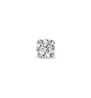 SINGLE Diamond Stud Earring 0.10ct Premium Quality 18KW Gold - 3mm