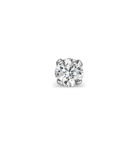 Single Stud Diamond Earring 0.07ct Premium Quality in 9KW Gold - 2.5mm - image 1