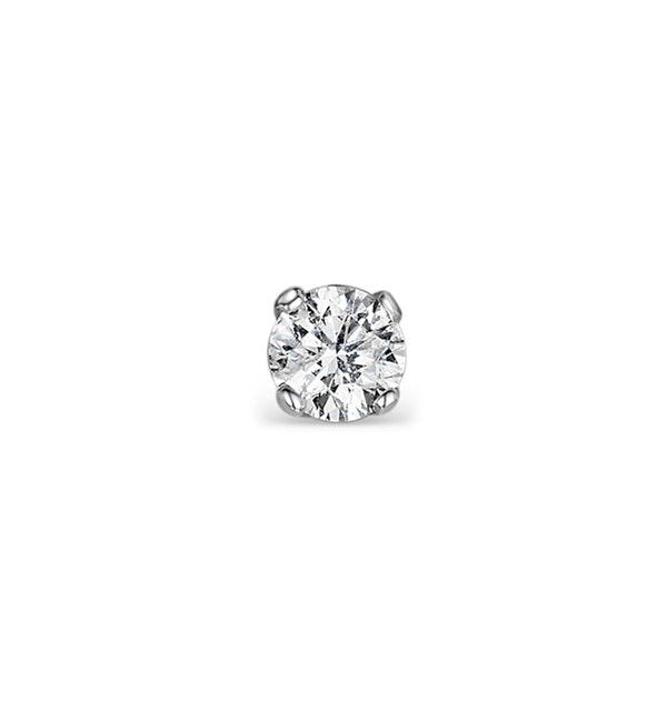 Single Stud Diamond Earring 0.05ct Premium 9KW Gold - 2.5mm - image 1