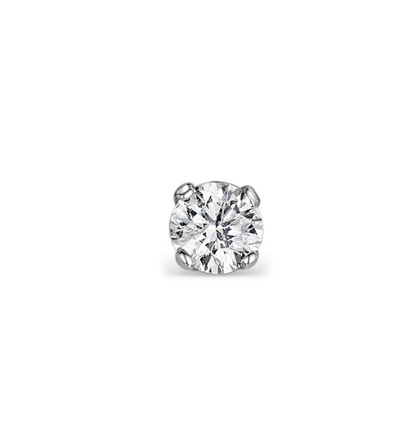 SINGLE Stud Diamond Earring 0.15ct Premium Quality 18KW Gold - 3.4mm - image 1