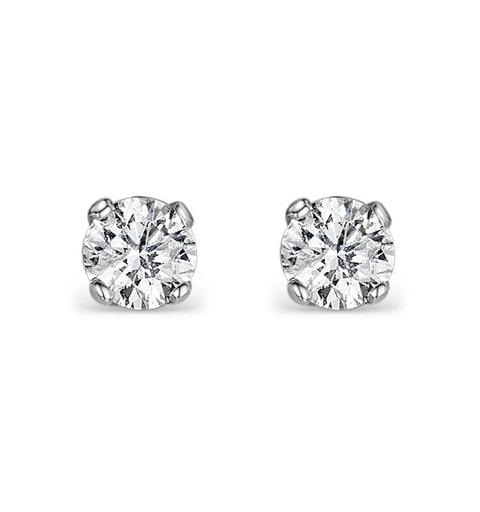 Diamond Stud Earrings 3mm 18K Gold - 0.20CT - G-H/SI - image 1