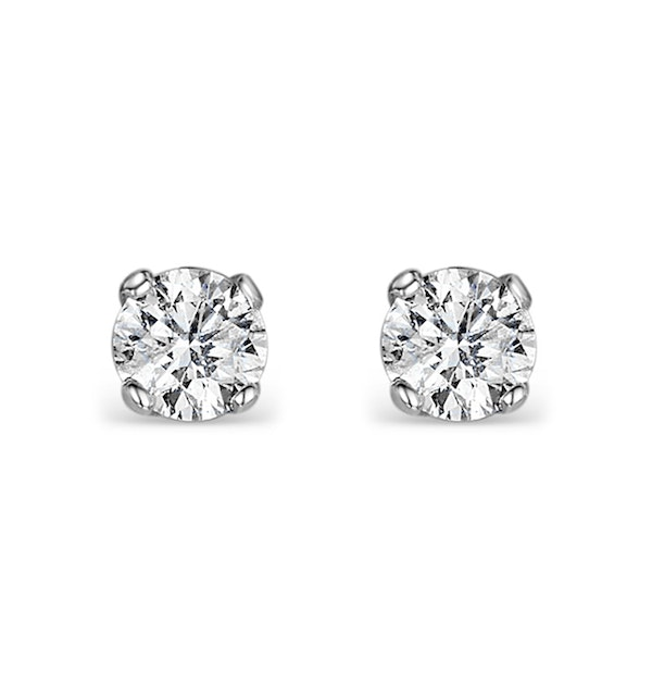 Diamond Stud Earrings 3mm 18K Gold - 0.20CT - Premium - image 1