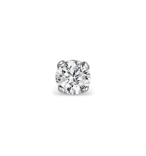 SINGLE Stud Diamond Earring 0.20ct Premium Quality 18KW Gold - 3.8mm