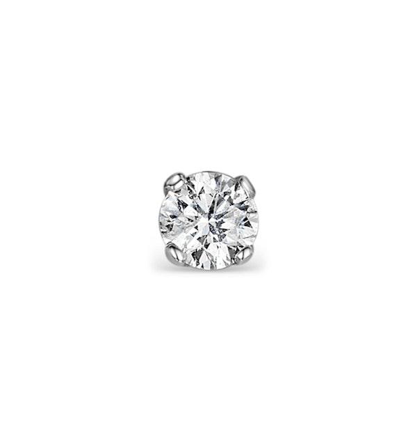 SINGLE Stud Diamond Earring 0.20ct Premium Quality 18KW Gold - 3.8mm - image 1