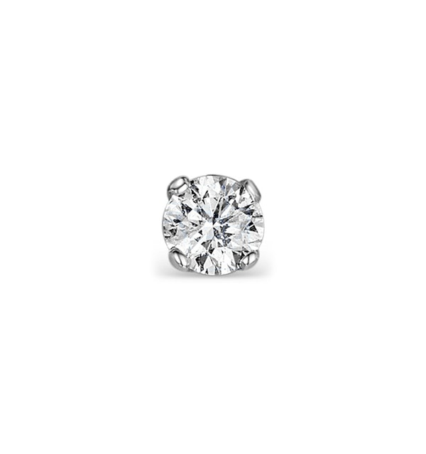 Single Stud Diamond Earring 0.20ct Premium Quality 18KW Gold - 3.8mm - image 1