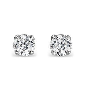 Diamond Earrings 0.30CT Studs G/Vs Quality in 18K White Gold - 3.4mm