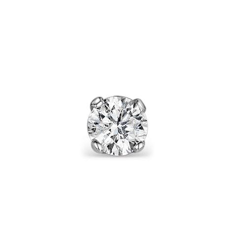 Single Stud Diamond Earring 0.25ct Premium Quality 18KW Gold - 4.1mm - image 1