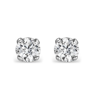 Diamond Stud Earrings 3.8mm 18K Gold - 0.40CT - G-H/SI