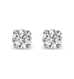 Diamond Earrings 0.40CT Studs Premium Quality in 18K White Gold 3.8mm