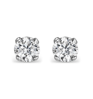 Diamond Stud Earrings 4.1mm 18K Gold - 0.50CT - Premium