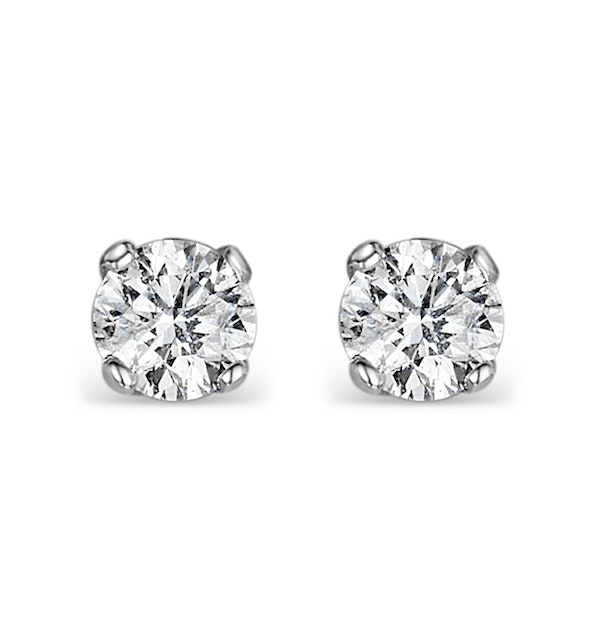 Diamond Stud Earrings 4.1mm 18K Gold - 0.50CT - F-G/VS - image 1
