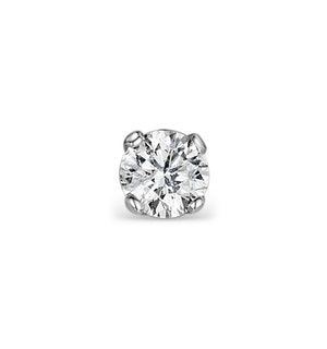 Single Stud Diamond Earring 0.50ct H/Si Quality 18K White Gold - 5.1mm