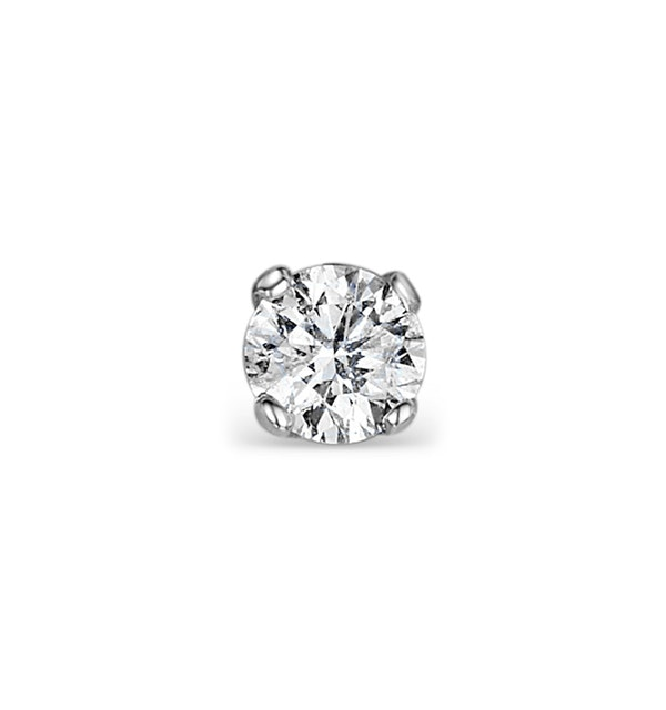 SINGLE Stud Diamond Earring 0.50ct H/Si Quality 18K White Gold - 5.1mm - image 1