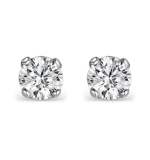 Diamond Earrings 0.66CT Studs Premium Quality 18K White Gold - 4.5mm