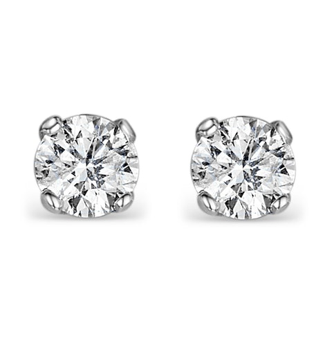 Lab Diamond Stud Earrings 1.50CT G/VS1 Quality Set in Platinum - 5.9mm - image 1
