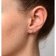 Diamond Earrings 1.00ct Look Galileo Style - 0.30ct in Platinum - image 3