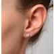 Diamond Earrings 1.00ct Look Galileo Style - 0.30ct in Platinum - image 4