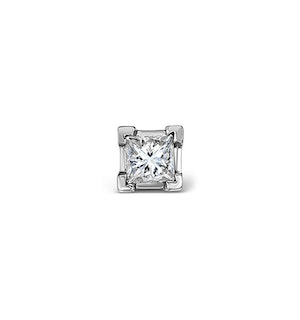 Single Stud Princess Diamond Earring 0.33ct H/Si in 18KW Gold - 3.8mm