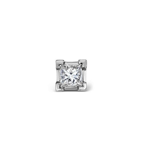 Single Stud Princess Diamond Earring 0.33ct H/Si in 18KW Gold - 3.8mm - image 1