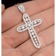 Diamond Pyrus Cross 1.40CT Pendant in 18K White Gold - R4654Y - image 3