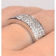 18K White Gold Diamond Pave Ring 0.45ct H/si - image 4