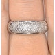 18K White Gold Diamond Pave Ring 0.64ct H/si - image 4