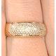 18K Gold Diamond Pave Ring 0.35ct H/si - image 4
