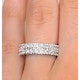 2 Row Diamond 1.00ct And Platinum Half Eternity Ring - S3482 - image 4