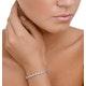 0.19ct Diamond and Silver Twist Bracelet - UD3241 - image 2