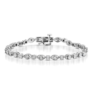 0.18ct Diamond and Silver Bracelet - UD3252