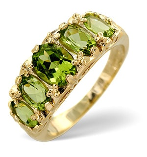 Peridot 2.72CT 9K Yellow Gold Ring