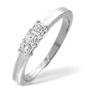 Trilogy Ring 0.26CT Diamond 9K White Gold