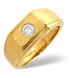 Diamond 0.20ct 9K Yellow Gold Mens Ring