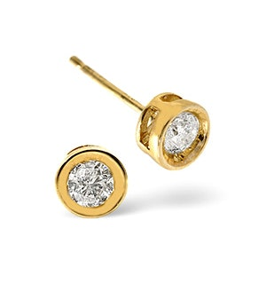 Stud Earrings 0.20CT Diamond 9K Yellow Gold
