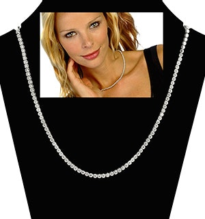 1.50ct Diamond Necklace Set in 18K White Gold