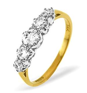 Grace 18K Gold 5 Stone Diamond Eternity Ring 0.33CT H/SI