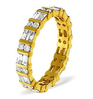 Eternity Ring Mia 18K Gold Diamond 1.00ct H/Si