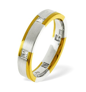 Lauren  0.28CT H/SI Diamond  and 18K Two Tone Wedding Ring