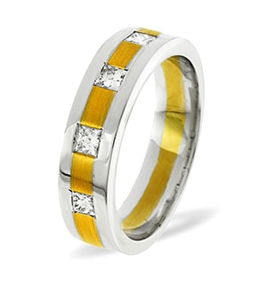 Lauren  0.35CT H/SI Diamond and 18K Two Tone Wedding Ring