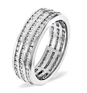 Eternity Ring Amy 18K White Gold Diamond 1.50ct H/Si
