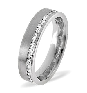 Emily 18K White Gold Diamond Wedding Ring 0.38CT H/SI