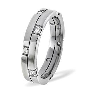 Ellie 18K White Gold Diamond Wedding Ring 0.22CT H/SI