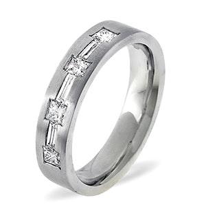 Mens 0.49ct H/Si Diamond Platinum Dress Ring