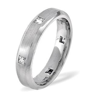 Jessica 18K White Gold Diamond Wedding Ring 0.28CT H/SI