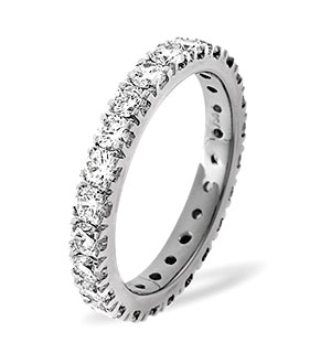Eternity Ring Poppy 18K White Gold Diamond 2.00ct H/Si