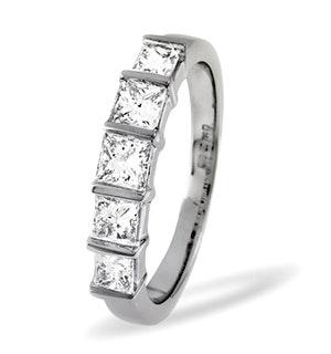 Lauren 18K White Gold 5 Stone Diamond Eternity Ring 0.50CT H/SI