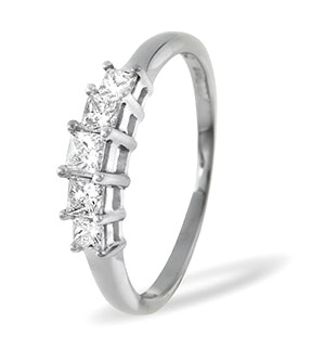 Lucy 18K White Gold 5 Stone Princess Diamond Eternity Ring 0.25CT H/SI