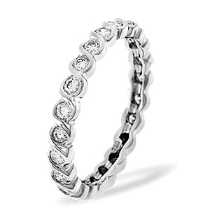 Eternity Ring Kiera 18K White Gold Diamond 1.00ct H/Si